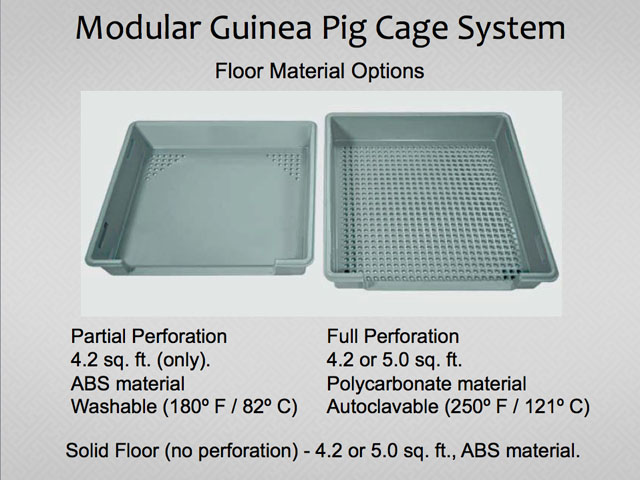 Guinea pig cage unit with modular componenets for lab animal